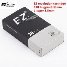 EZ иглы татуировки революция картридж круглый вкладыш#10(0,30 мм иглы) RC1003RL RC1005RLRC1007RL RC1009RL RC1014RL 20 шт./лот