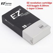 EZ-cartucho de Agujas para tatuaje Revolution, delineador redondo #10 (aguja de 0,30mm) RC1003RL RC1005RLRC1007RL RC1009RL RC1014RL 20 unids/lote