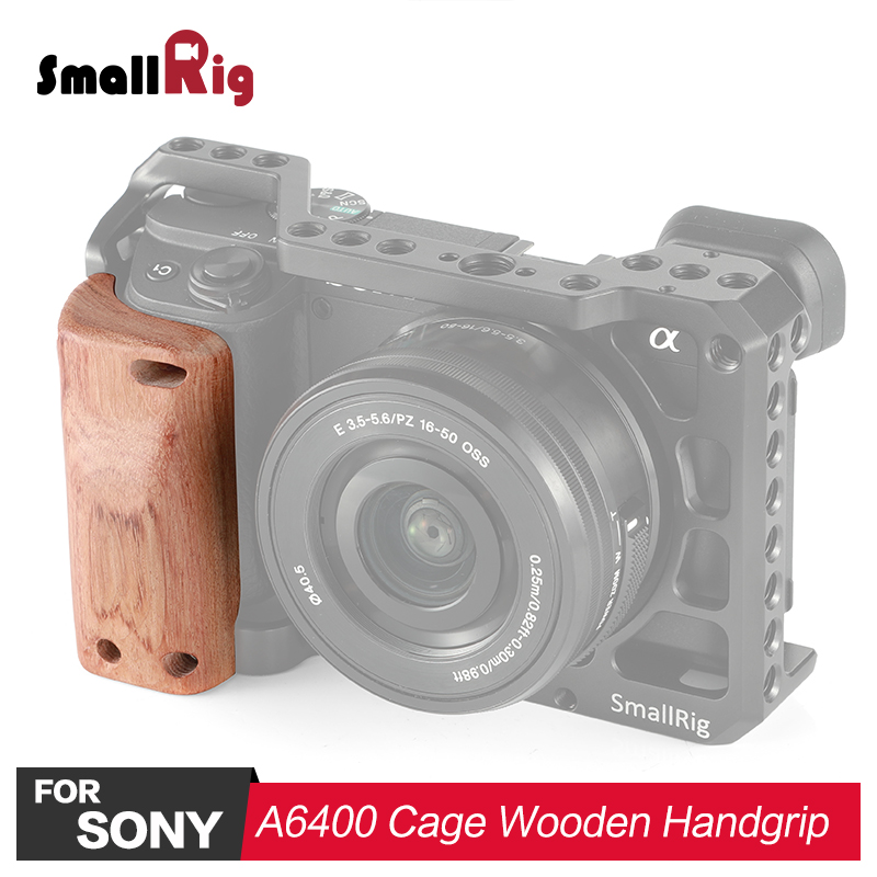 SmallRig DSLR Camera Wooden Handgrip for Sony A6400 Cage APS2318