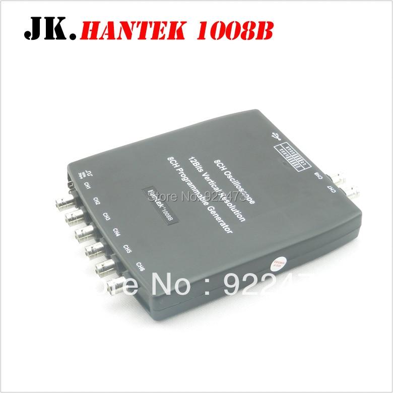 H049 Hantek1008B 8CH USB Auto Scope/DAQ/8CH Generator 8 Channels Automotive Diagnostic Oscilloscope Hantek 1008B pc 8ch automotive diagnostic oscilloscope daq programmable generator 1008b