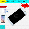 Tested For MEIZU MX4 LCD Display+Touch Screen Black White 5.36 Inch Display Replacement Digitizer Assembly Parts Free Glass Film