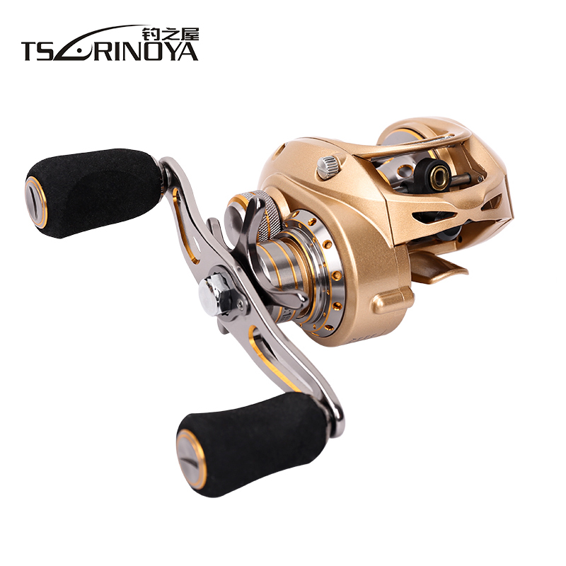 Tsurinoya  7kg Drag EX-150L/EX150-R Magent +Centrifugal Brake Full Metal Frame Baitcast Reel Baitcasting Lure Fishing Reel trulinoya full metal body baitcasting reel 7 0 1 10bb carbon fiber double brake bait casting fishing reel max drag 7kg