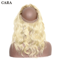 360 Lace Frontal Closure Pre Plucked With Baby Hair Lace Frontal Closure Brazilian Remy Body Wave #613 Blonde Lace Frontal CARA