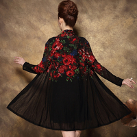 Spring Summer Women High Quality Embroidery Two Piece Dress Casual Long Sleeve Slim Women S Party
