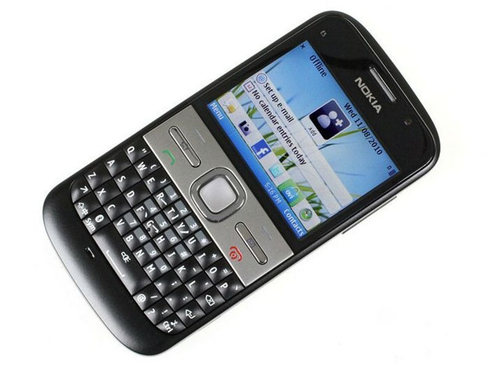 Refurbished phone Nokia E5 5MP Camera 3G network english languge cell phones silver 2