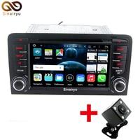 Sinairyu Acht Core Android 6.0 Auto DVD GPS Navi voor Audi A3 2002-2011 met WIFI 4G BT Radio Stuurbediening Canbus