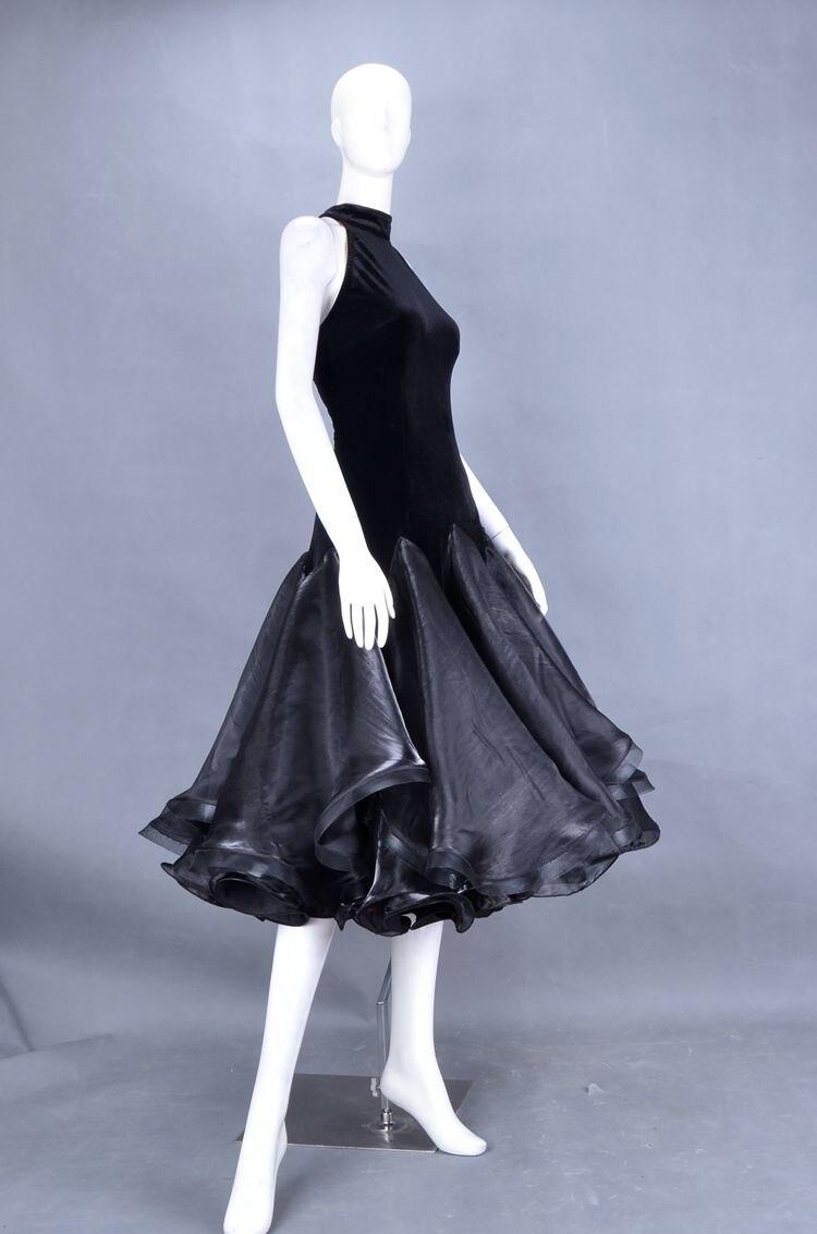 Exotic dance modern dance three South Korea yarn fluffy big swing Halter Xiaojian short dresses W13009B