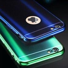 Для iPhone 6 6 S роскошные металл чехол зеркало стиль алюминиевая рама шику акрилового пластика задняя крышка для iPhone 6 S плюс аксессуар