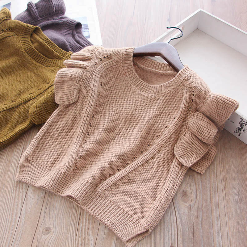 Großhandel Everweekend Mädchen Kinder Crochet Rüschen Weste ...