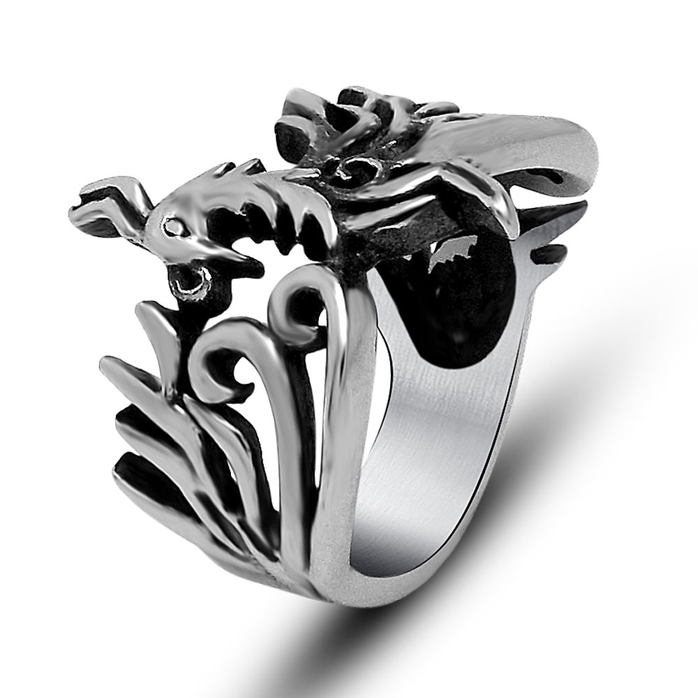 thai item new phoenix men jewelry fashion sterling ring for fnj in silver rings adjustable original from size women