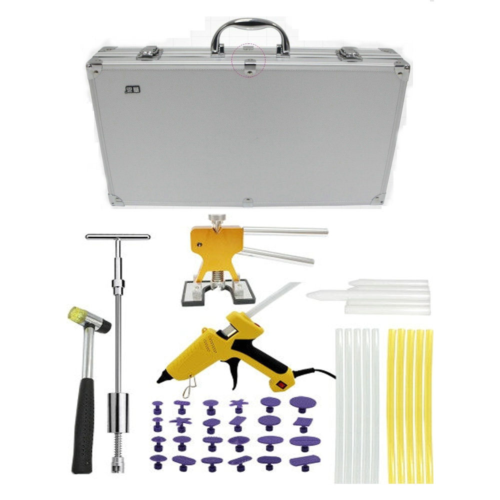 Heavy Knight PDR Paintless Dent Removal Lifter Tool Kit Dent Puller Kit Car Paintless Dent Repair Hail Removal Kit PDR Tools removal glue dent dent tools paintless pdr lifter hail puller car repair