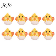 JOJO BOWS 10pcs Resin Patches Yellow Chick Accessories For Needlework DIY Hair Bows Material Garment Decoration Apparel Sewing
