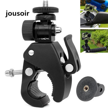 10pcs/lot 180 Degree  Camera Bicycle Handlebar Holder 1/4 Screw Clamp Mount Bracket Adapter Tripod Clip for camera CD50
