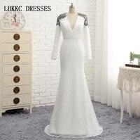 Vestidos De Festa Longo Long White Evening Dress Mermaid Chiffon With Lace Elegant Mother Of The Bride Dress
