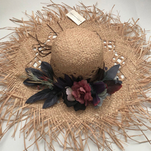 ZJBECHAHMU Fashion Solid Floral Vintage Straw Sun Hats For Women Girl Summer Caps Sunshade beach hat can be folded New fedoras