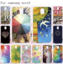 Hard and Silicon Painted Cell Phone Cover For Samsung Galaxy Note III 3 Note3 Cases 17 Romantic Pictures Smartphone Shells Hoods