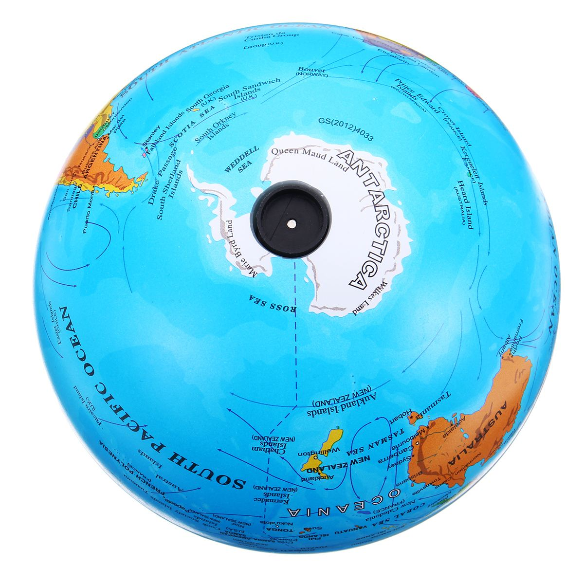 Kiwarm 15cm self rotating world globe earth map led color light kiwarm 15cm self rotating world globe earth map led color light geography educational toy home office decoration in figurines miniatures from home gumiabroncs Image collections