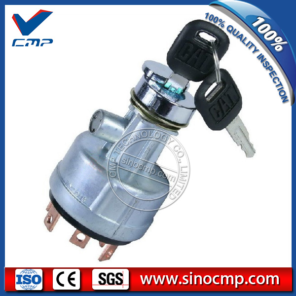 SINOCMP 7Y 3918 7Y3918 Excavator Ignition Switch 6 lines 2 keys for  320B E320B Excavator Parts|key for|key key|key line - title=