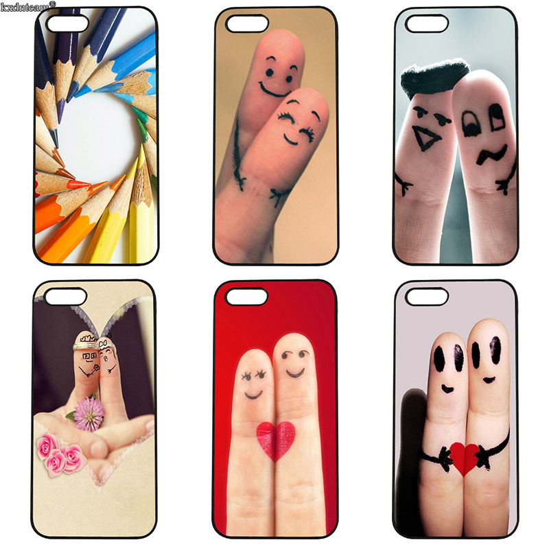 Pictures of Fingers Art Mobile Phone Case Hard PC Cover Fitted for iphone 8 7 6 6S Plus X 5S 5C 5 SE 4 4S iPod Touch 4 5 6 Shell