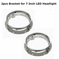One Pair 7 Inch Round Daymaker LED Headlight Mounting Bracket Ring For Harley Davidson Motorcycle Jeep