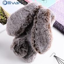 3D Rabbit Hairy Case For Samsung J5 J3 J7 2017 Euro Cover Fur Bling Rhinestone Plush Bunny TPU Case For samsung A5 A7 A3 Capa