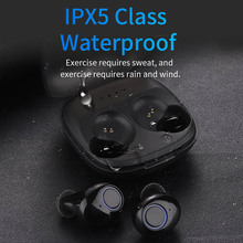 TWS Bluetooth 5.0 Sports Earbuds Mini Wireless Stereo Earphones with Mic for Smartphones EM88
