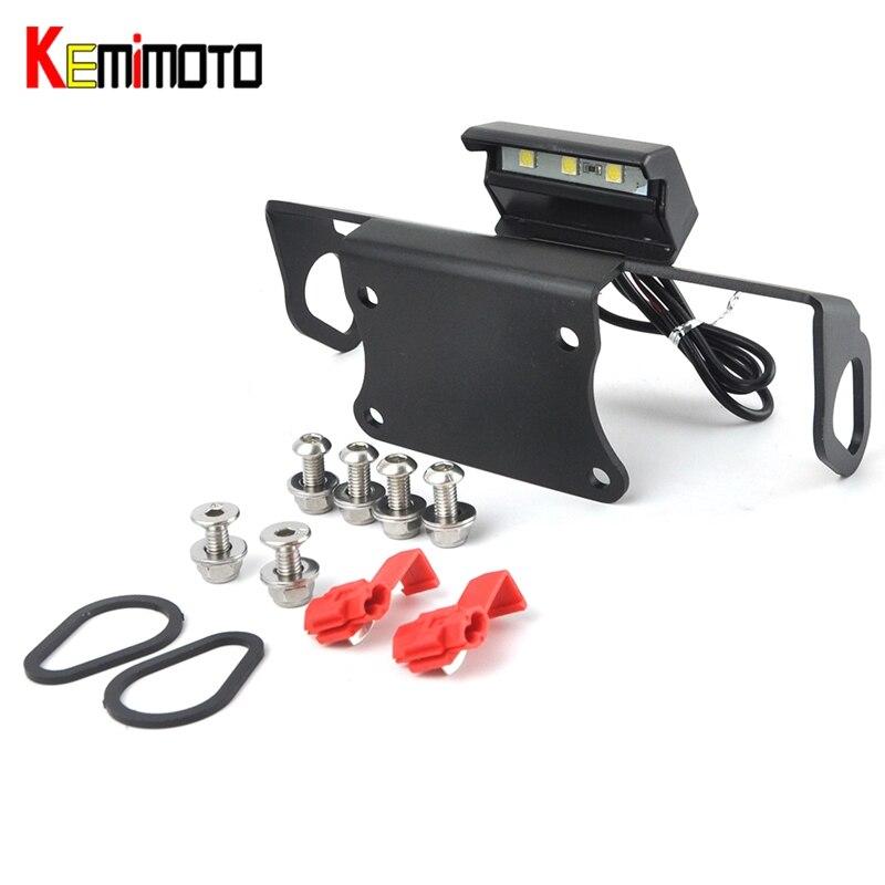 KEMiMOTO MT09 MT10 License <font><b>Plate</b></font> Bracket Fender Eliminator LED For <font><b>YAMAHA</b></font> MT 09 MT 10 2014-2017 Kit License <font><b>Plate</b></font> Holder MT-09