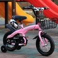 Детский велосипед 12 дюймов/14 дюймов/16 дюймов/двухколесный велосипед для мальчиков и девочек, многоцветный дополнительный детский велосипе...
