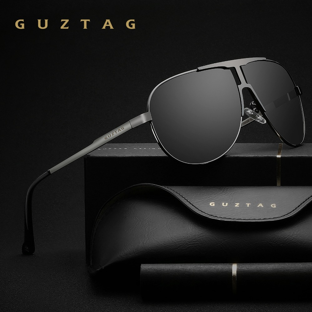 GUZTAG Marke Mode Klassische Polarisierte Sonnenbrille männer Designer HD Goggle Integrierte Brillen sonnenbrille UV400 Für Männer G8026