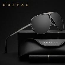 GUZTAG marka moda klasik polarize güneş gözlüğü erkek tasarımcısı gözlüğü entegre gözlük güneş gözlüğü UV400 erkekler için G8026