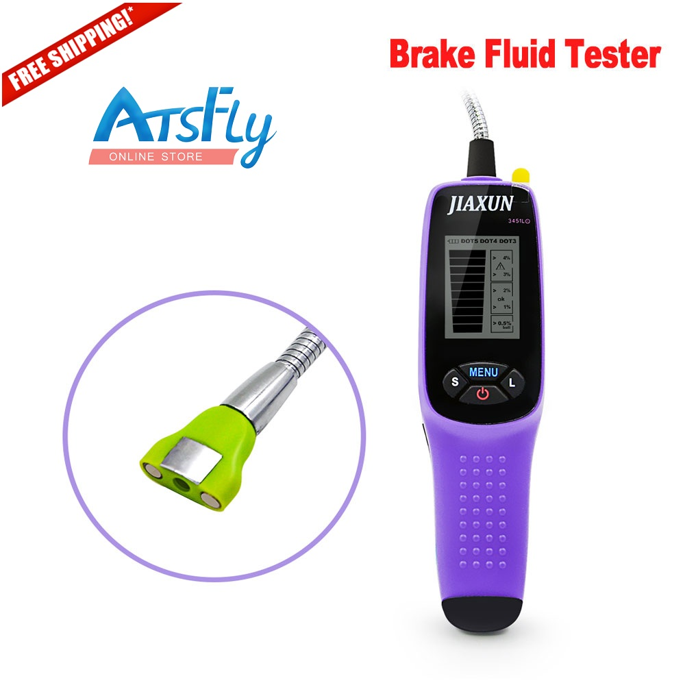 Hot JIAXUN 3451L brake fluid tester digital brake fluid inspection tester with LED lights and large screen display  цены