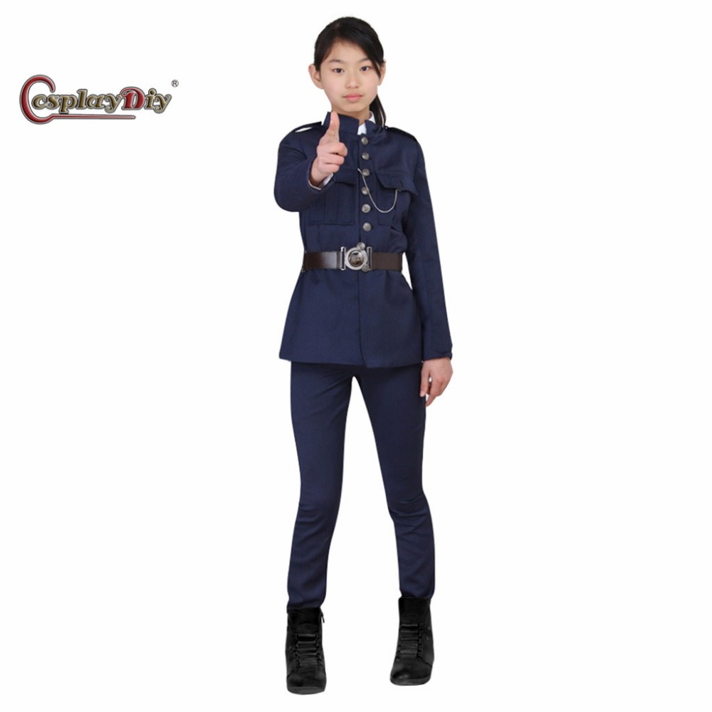 Cosplaydiy Police Uniforms Kids Children Halloween Carnival Party Cosplay Costume Custom Made J5 2018 guilty gear xrd sign dizzy uniforms cosplay costume custom made
