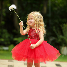 Baby Toddler Girls Dress Flower Tutu Wedding Party Girl Dress Prom Dress Summer Princess Dress недорого