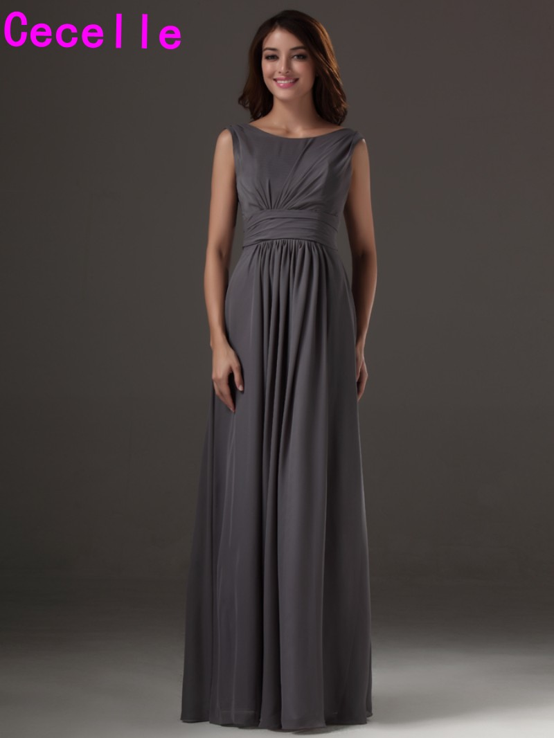 2017 custom made long grey sleeveless chiffon bridesmaids dresses 2017 custom made long grey sleeveless chiffon bridesmaids dresses simple sexy low back long wedding party dresses cheap sale in bridesmaid dresses from ombrellifo Choice Image