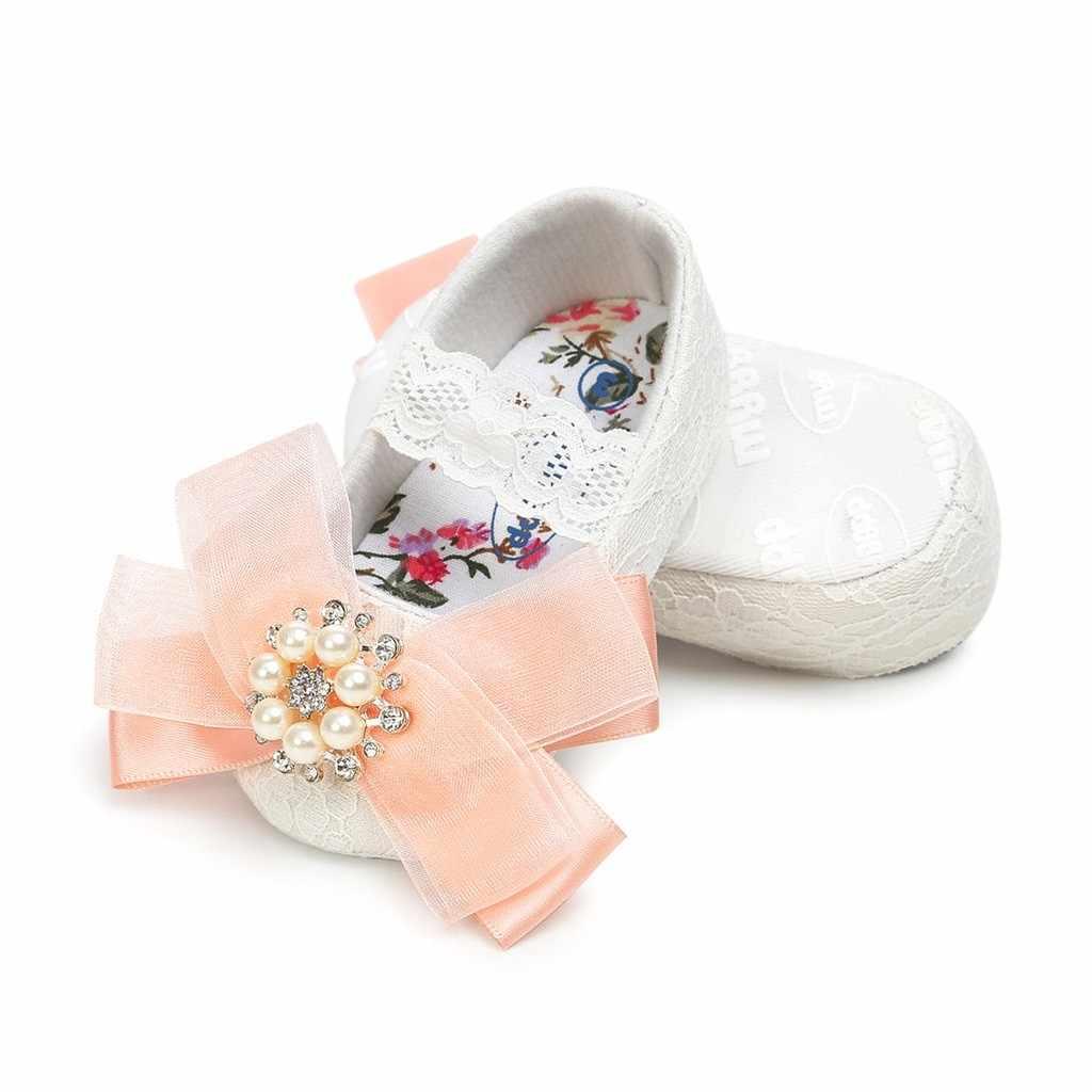 New Born สาวฤดูร้อนรองเท้าเด็ก 1 ปีโบว์ทารกแรกเกิดเด็กวัยหัดเดินรองเท้าเด็กทารกรองเท้าเด็ก 2019 ลูกไม้- up First Walkers