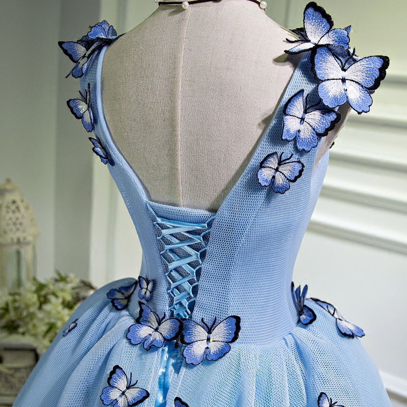 63a033fb32e4 100%real light blue butterflys alice/fairy fancy dress short ball gown/short  lolita dress-in Lolita Dresses from Novelty & Special Use on Aliexpress.com  ...