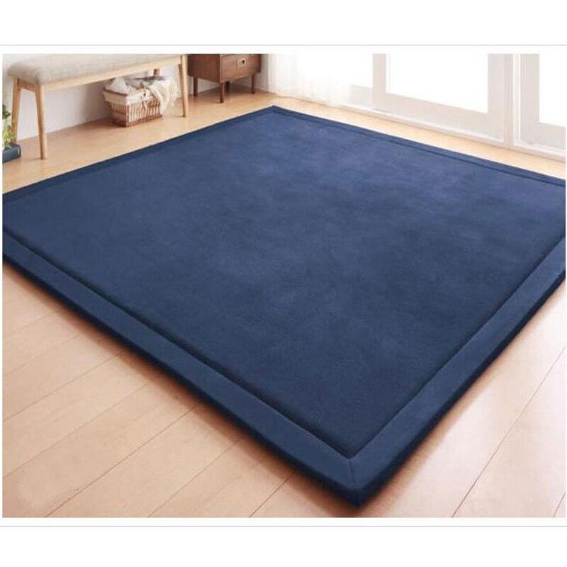 Tapis d'ouatine de corail épais 180x200x2 CM Tatami doux Table à thé manuellement chambre tapis Rectangle salon grand tapis décor à la maison