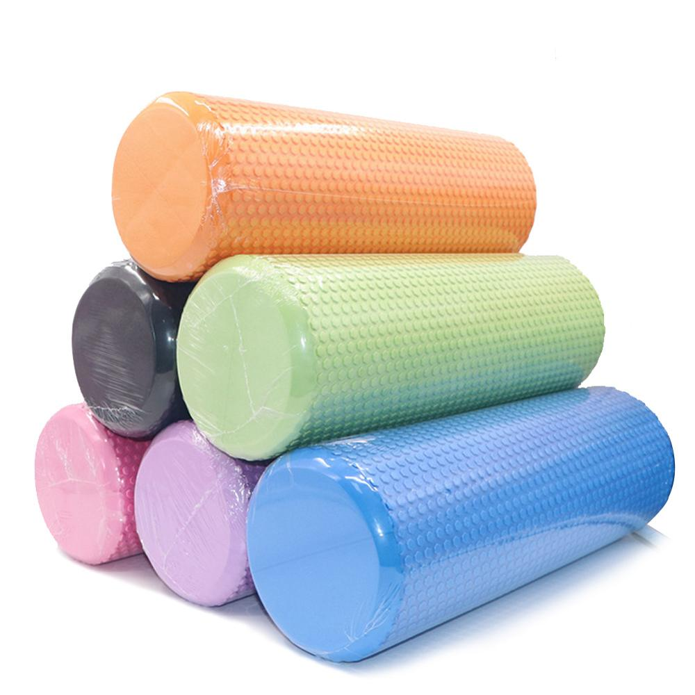30/45/60CM EVA Yoga Foam Roller Training Colume Rollor Bricks Fitness Exercise Pilates Body Building Back Massager