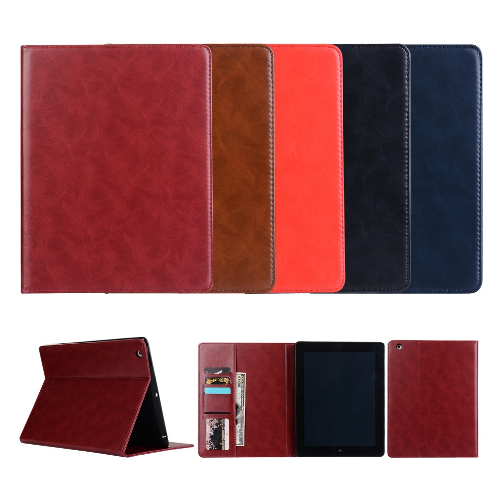 Case for Apple iPad 2 3 4 , YRSKV Smart Cover PU leather+TPU case sleep/wake bracket Card slot faux leather