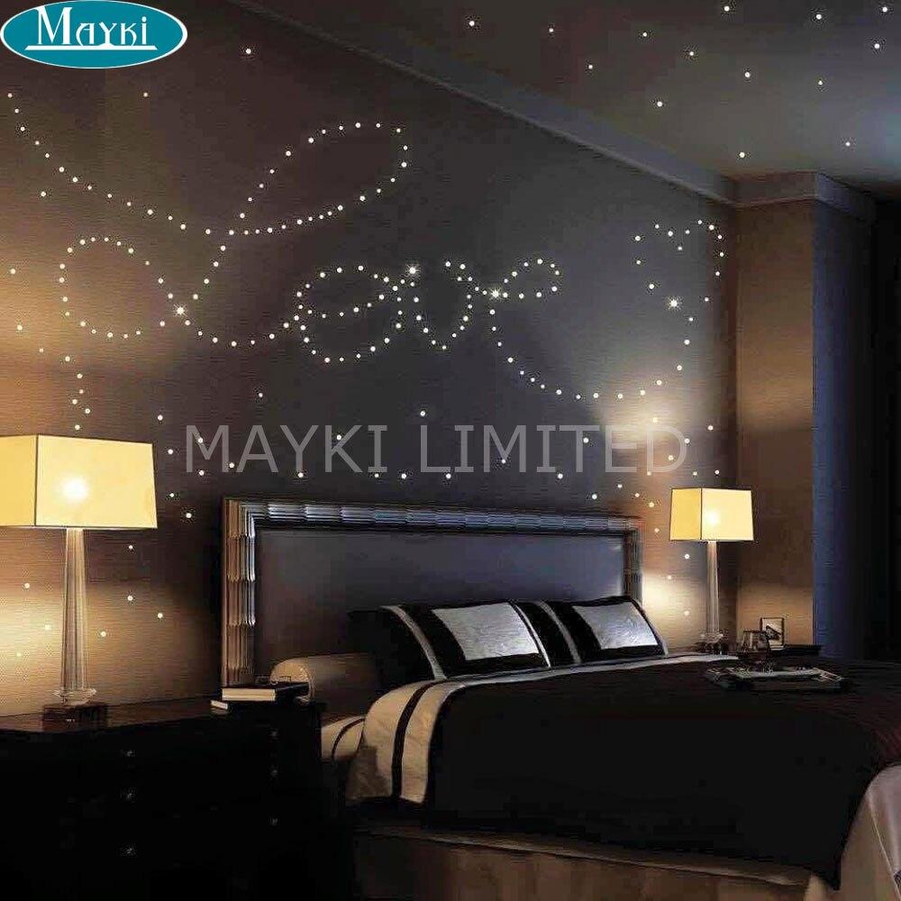 Maykit Dimmable 9w a mené l'illuminateur optique de fibre avec le contrôleur à distance de rf, rouge, bleu, orange, blanc, changement de couleur verte, dim