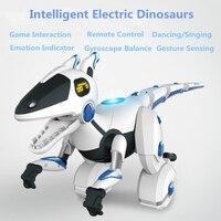 Механический пульт дистанционного управления баланс Dinosours 28308 зондирования интерактивные Танцы RC животных интерактивный умный динозавр ро
