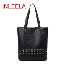 INLEELA New Arrival Autumn Bag Large Size Women Shoulder Bag Daily Vintage Women Messenger Bag Causal Rivet Bag