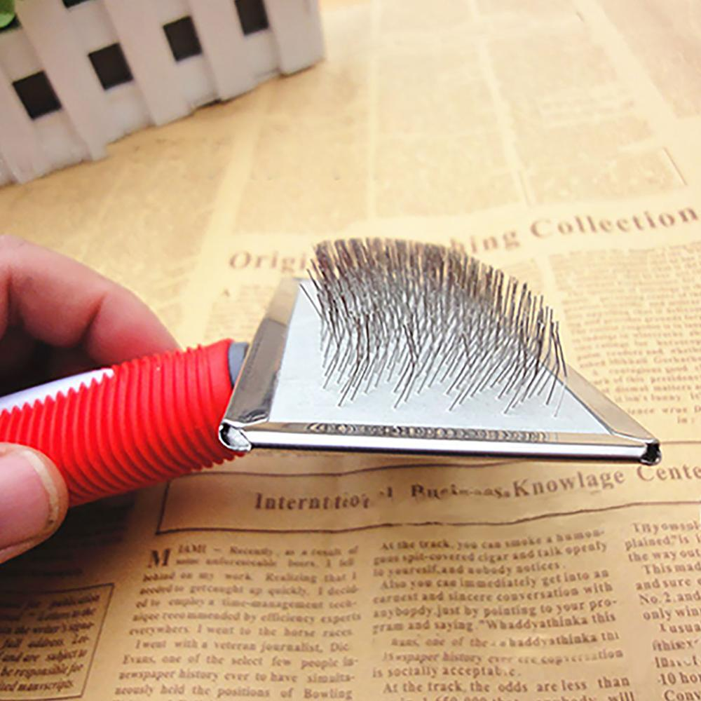 1PC Steel Need Comb for Dog Cat Yokie Gilling Brush Dog Rake Comb Massage Grooming Tools Pet Beauty Brush Dog Accessories in Dog Combs from Home Garden