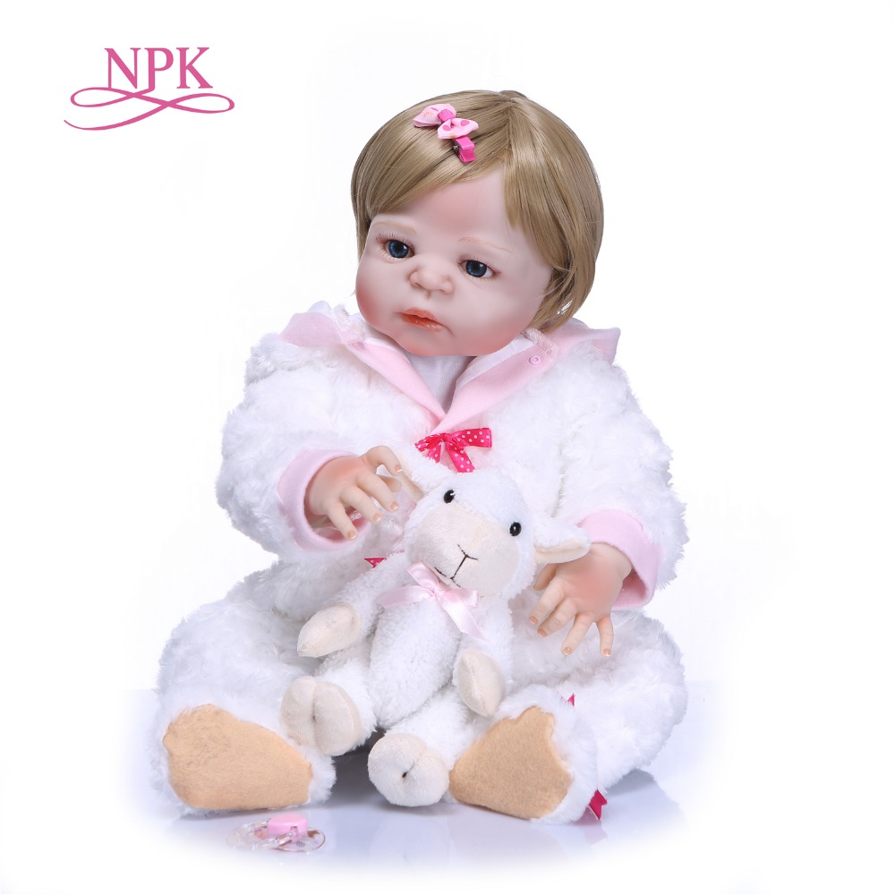 NPK Full Silicone Vinyl Reborn Baby Doll Toys Lifelike Soft Touch Newborn babies Doll Kids Birthday Gift Girls Brinquedos цены онлайн