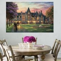 Знаменитая картина вилла замок Томас Кинкейд Пейзаж картина замок здания giclee печать для Домашний Декор стены Книги по искусству без рамы