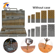 Round Handle HSS Twist Drill Woodworking Drill Bit Set Tools (50Pcs Gold & 50Pcs Silver) 100Pcs 1/1.5/2/2.5/3mm Without Case(China)