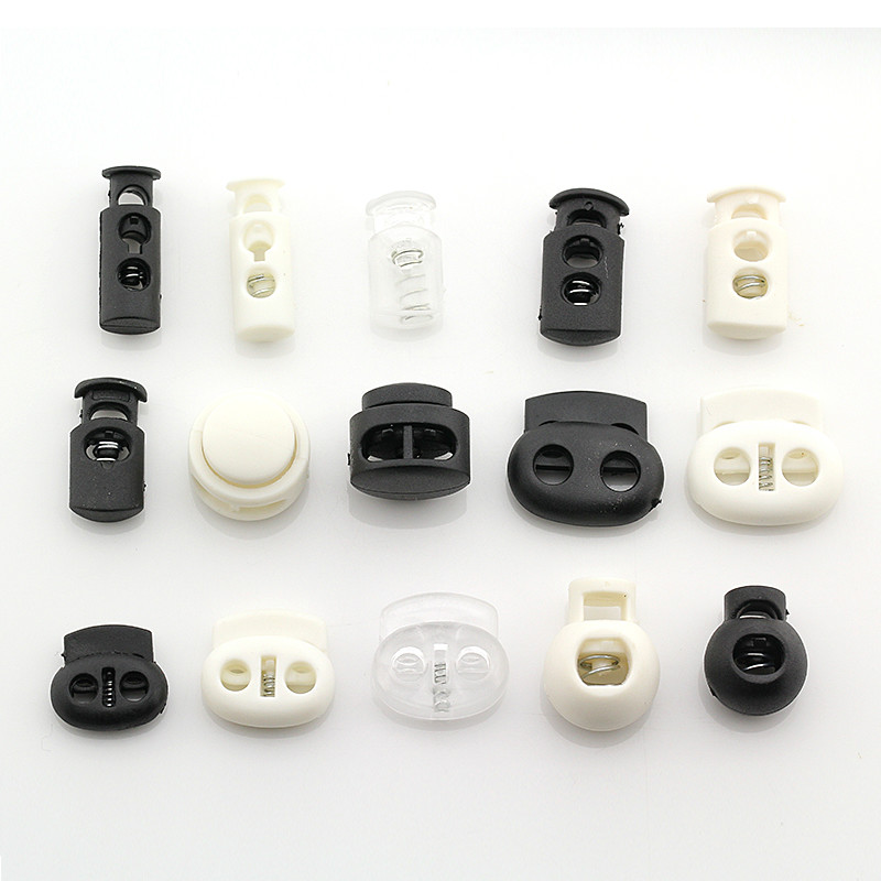 100 PCS/LOT Plastic Spring Adjust BUTTON Tightening Buckle Stopper SEWING ACCESSORIES