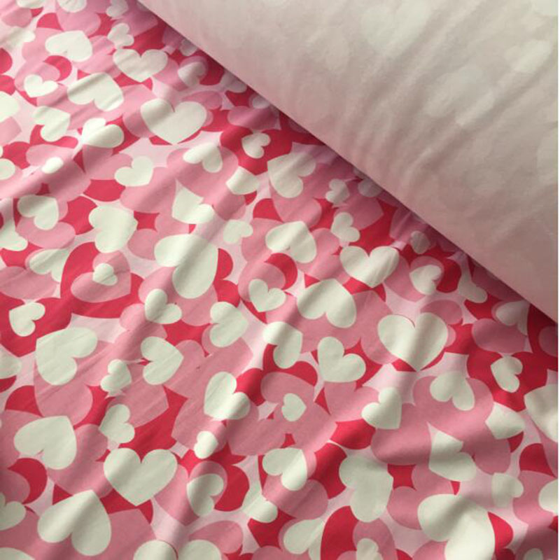 Printed Single Side Fleece Soft Fabric Material,Heart Print,High Quality,170 cm/""