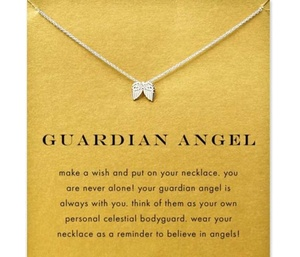 Bereavement Gift Angel Wing Necklace Condolence Miscarriage Gift Infant Loss Protection Necklace Jewelry(China)