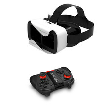 New VR Shinecon III 3.0 Mini Virtual Reality 3D Glasses VR Helmet BOX Game Video Headset For 4.7-6 inch Phone &Bluetooth Gamepad